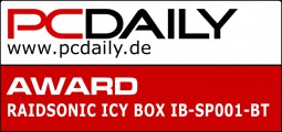 PCDaily Award für ICY BOX SP001 Bluetooth